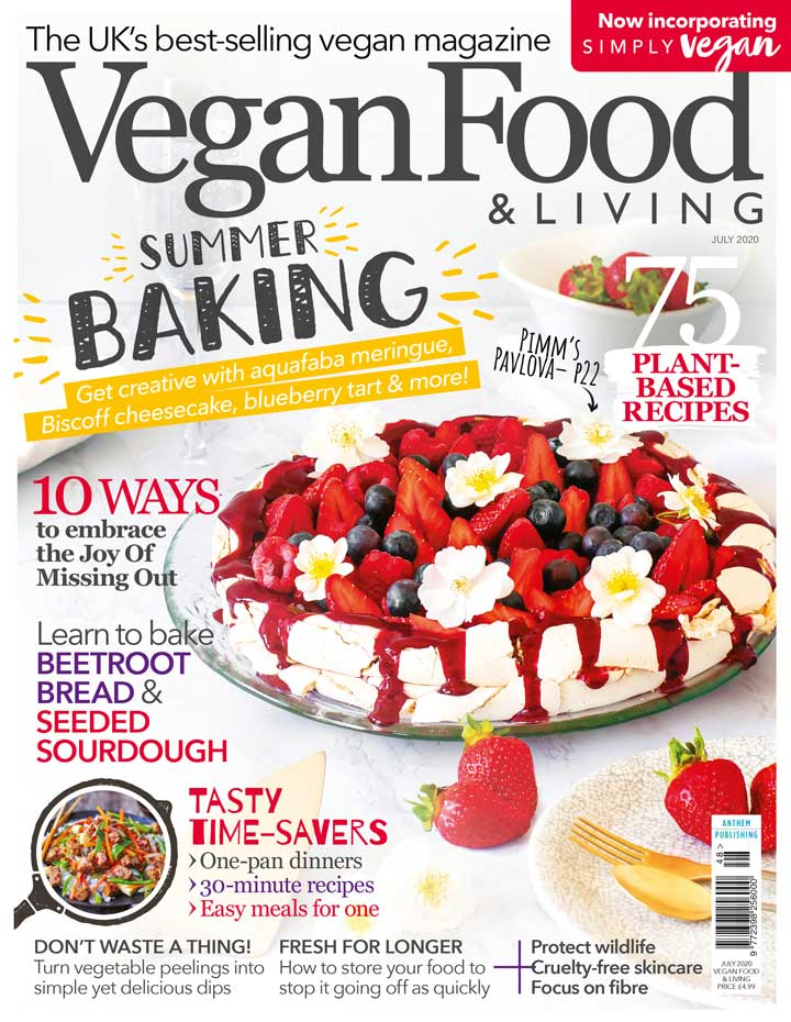 Bake your best ever vegan treats with the July issue of Vegan Food & Living