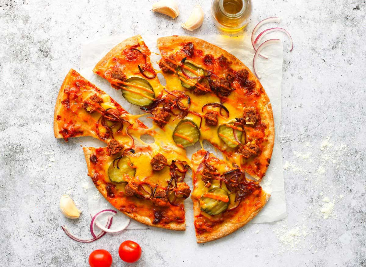 Applewood partners with vegan companies to launch UK's first vegan cheeseburger pizza