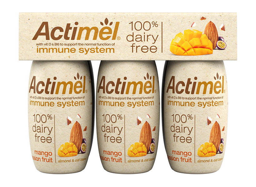 Danone launches its first plant-based Actimel yoghurt drink range