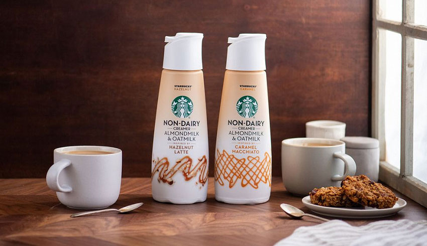 Starbucks to launch almond and oat milk vegan coffee creamers
