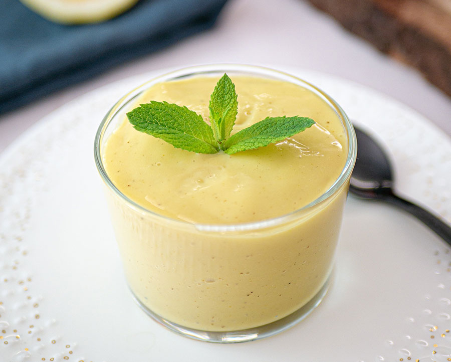 Vegan Custard With Lemon & Vanilla