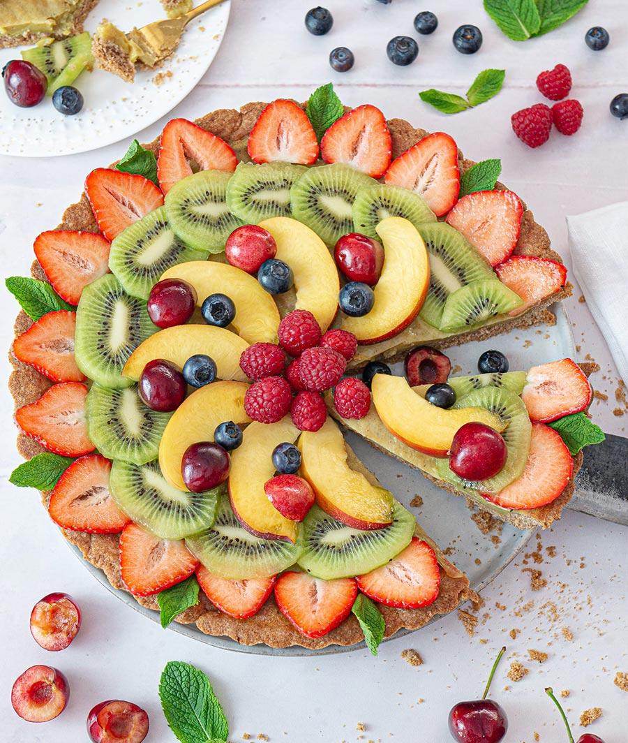 Vegan Fruit Tart With Custard