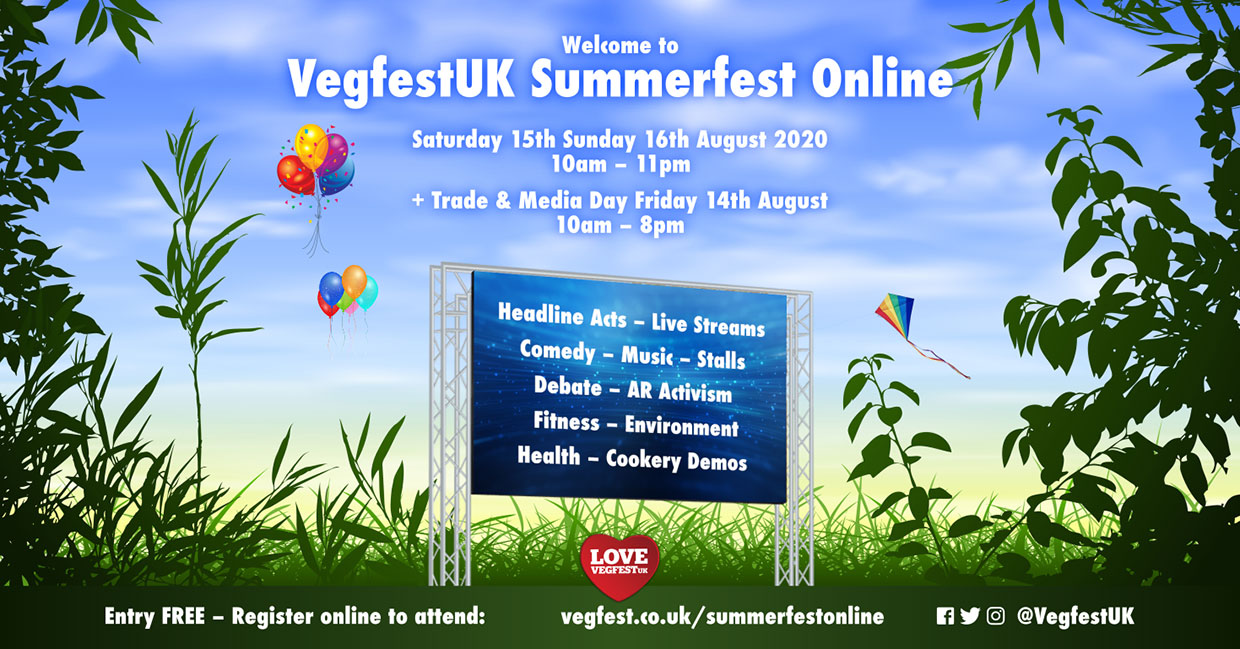 VegfestUK to host free 3-day online event this August