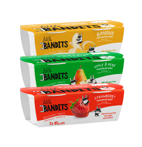 Vegan start up Little Bandits launches free-from yoghurts
