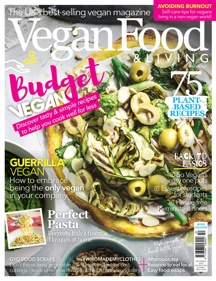 Cook delicious vegan food on a budget with the September issue of Vegan Food & Living
