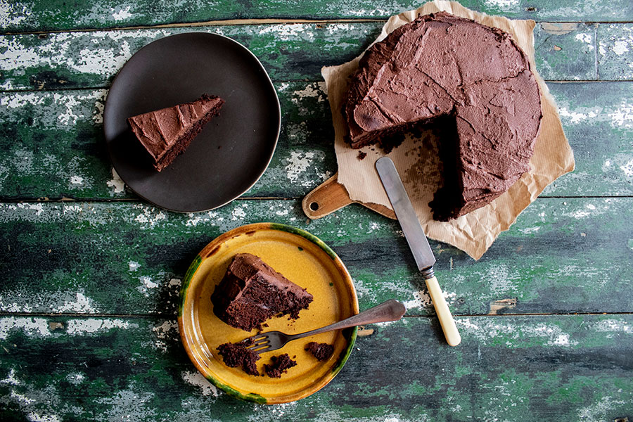 Fudgy Vegan & Gluten-Free Chocolate Cake