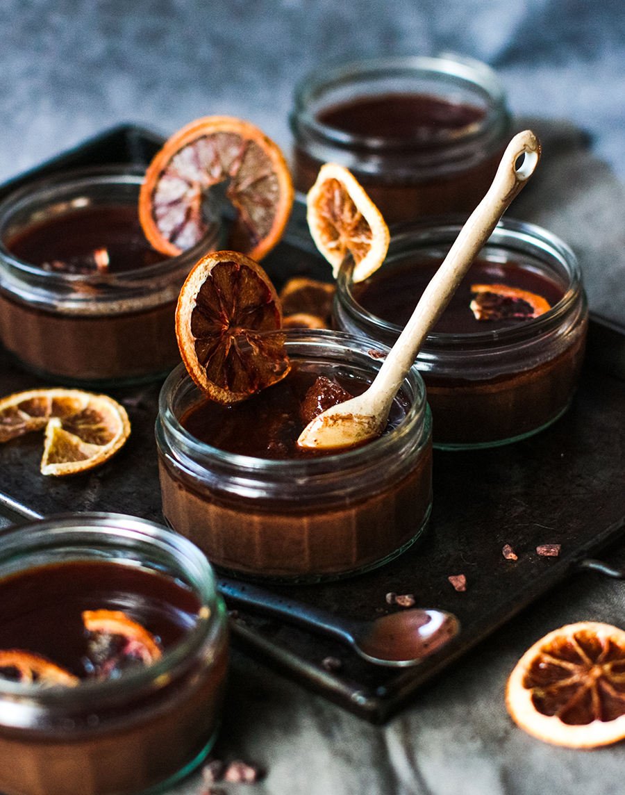 Chocolate Orange Ganache Pots