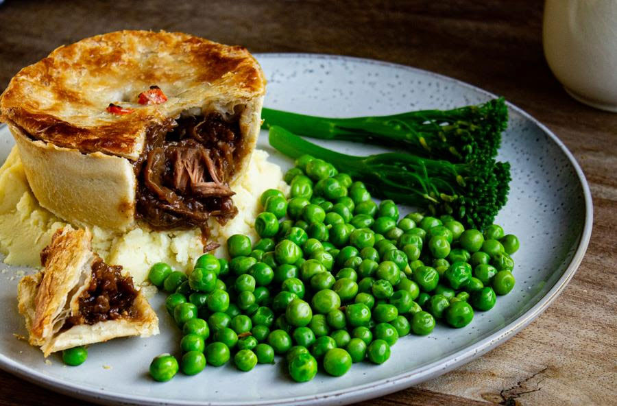 Pieminister launches new meaty plant-based pies including vegan steak & ale