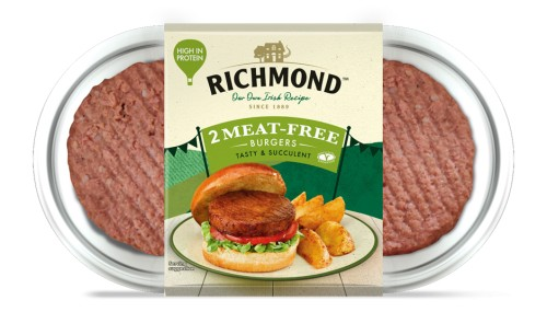 Richmond launches meat-free burgers in its plant-based range