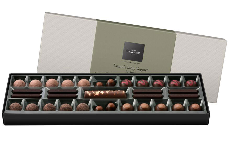 Hotel Chocolat launches vegan milk chocolate selection box