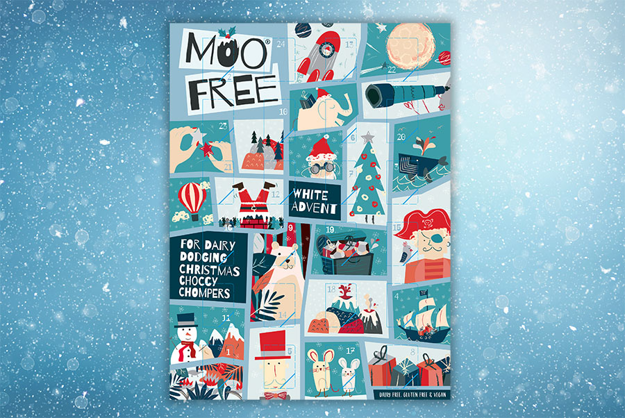 Moo Free launches vegan white chocolate advent calendar