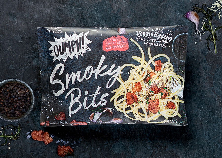 Oumph! launches smoky bacon-style bits at Morrisons