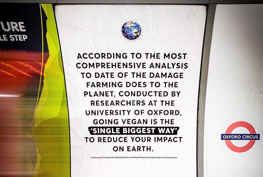 Surge Activism urges London commuters to go vegan with new campaign