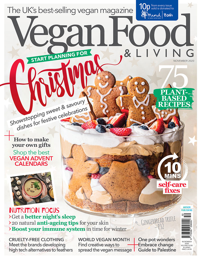 Start planning your Christmas feasts with the November issue of Vegan Food & Living