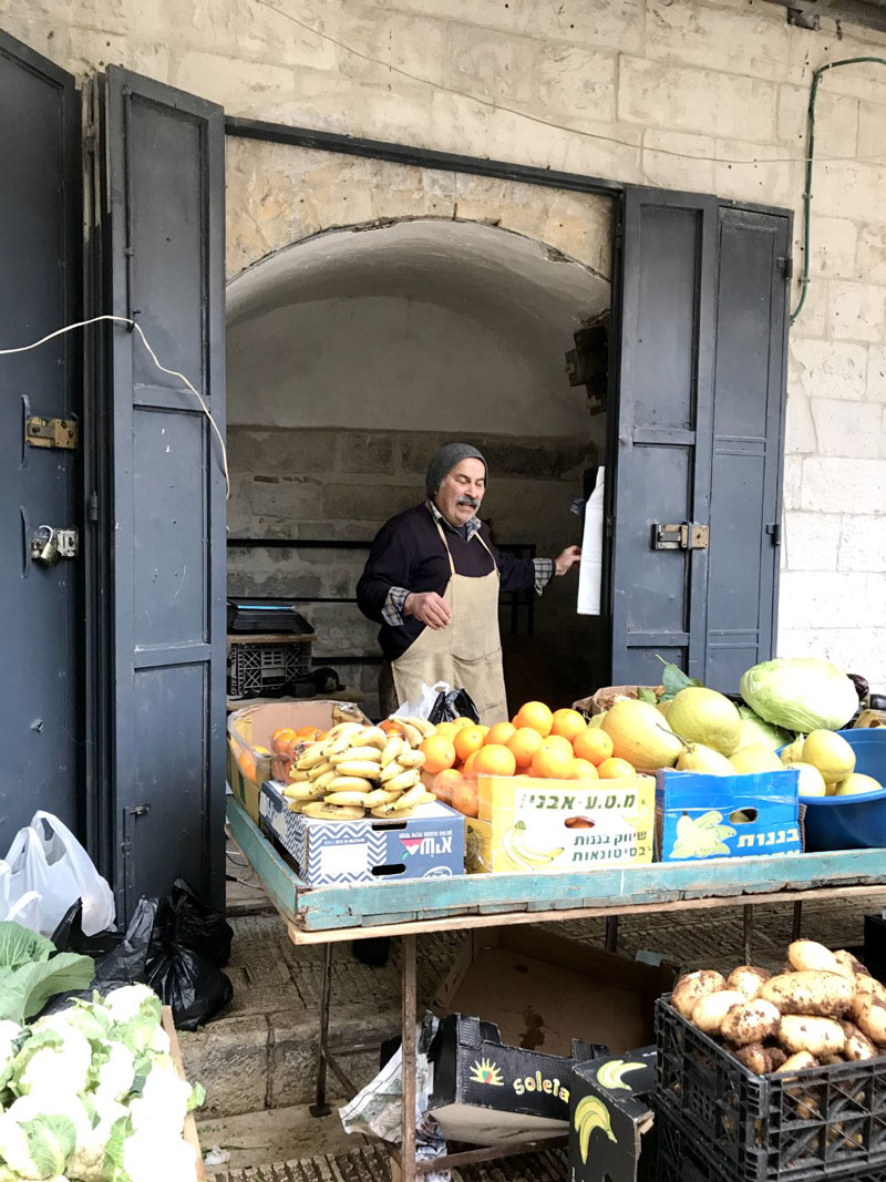 Fruits and vegetables in the market in Nablus