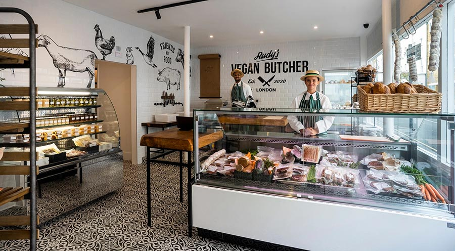 The UK's first vegan butcher shop sells out on first day of opening