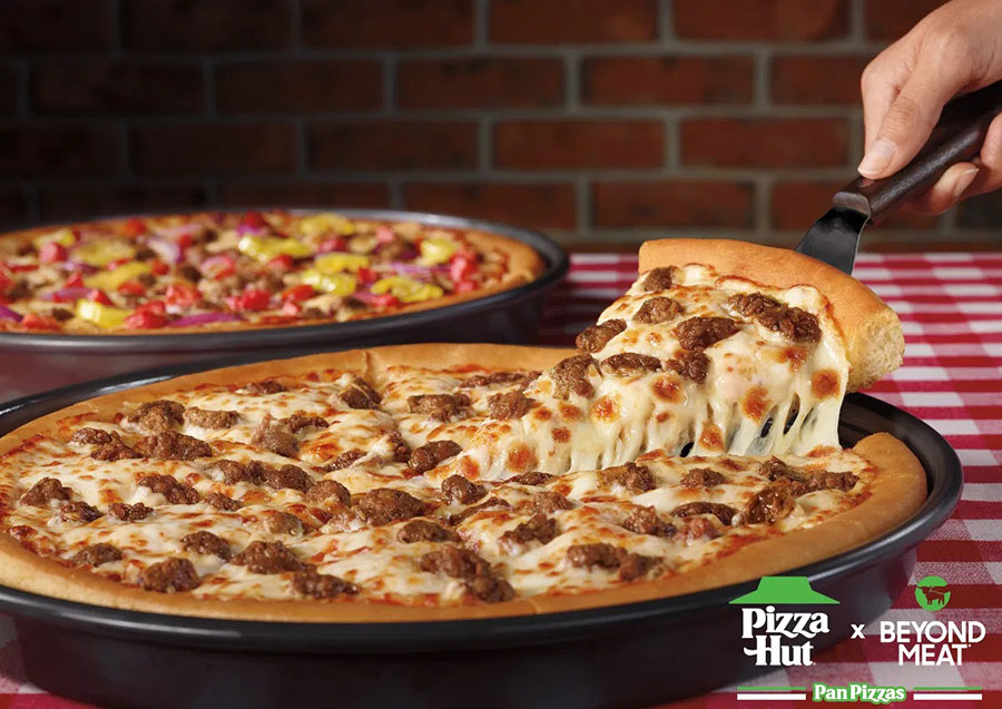 Pizza Hut adds Beyond Meat toppings to its UK and US menus