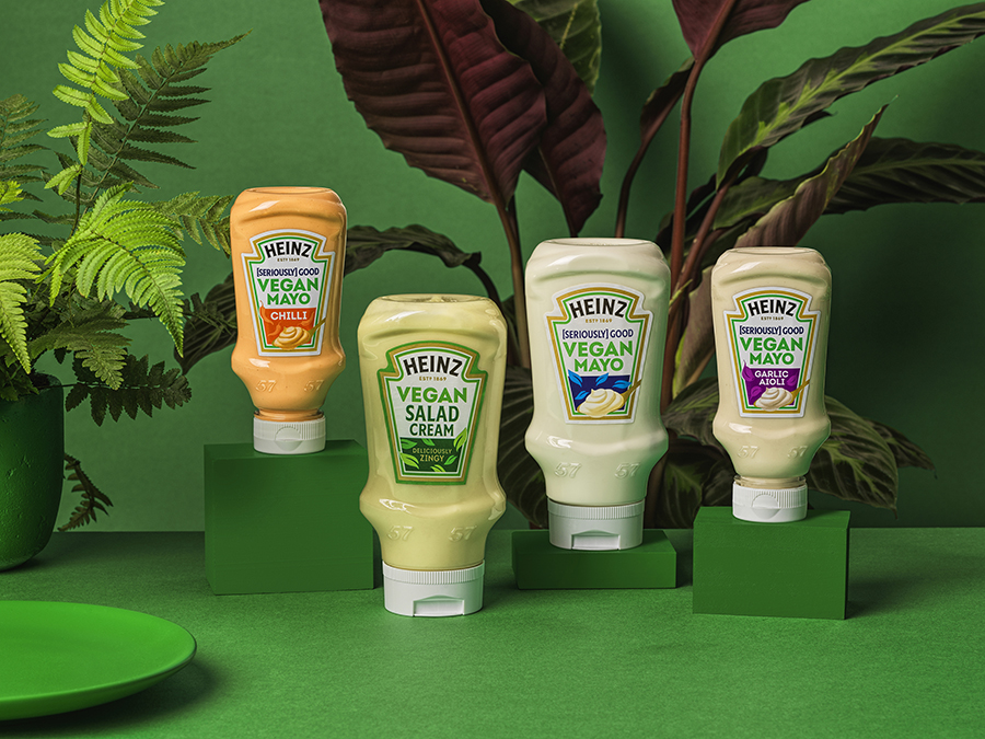 Heinz to launch vegan salad cream, mayo and bean burgers