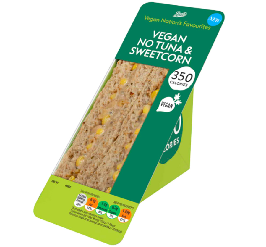 Boots to launch 'Vegan Nation's Favourites' sandwich range for Veganuary