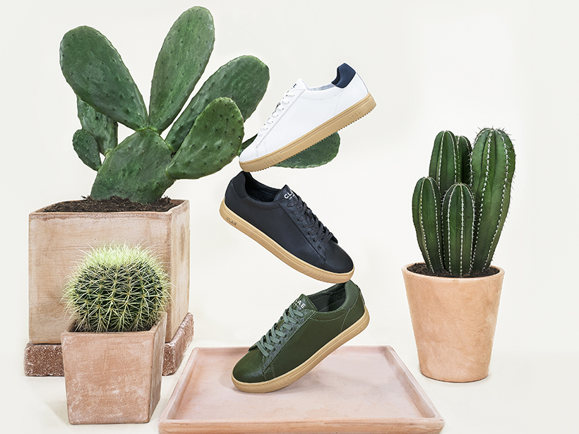 Shoe brand Clae has collaborated with DESSERTO to create vegan sneakers made from cactus leather.