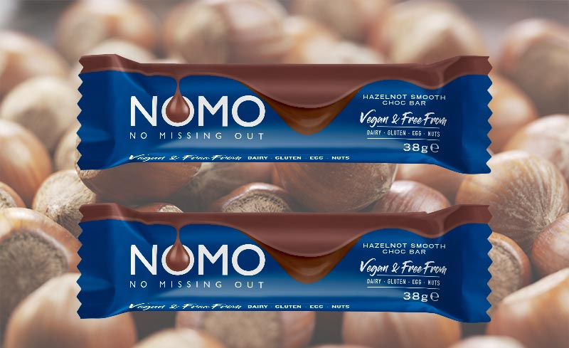 NOMO launches 'Hazelnot Smooth' bar exclusively at Sainsbury's