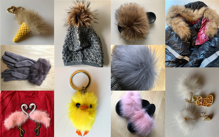 """HSI/UKs investigations revealed a number of products including a fur bag charm from Romwe and a """"faux fur hooded coat"""" made with real fur are actually made from real fur"""