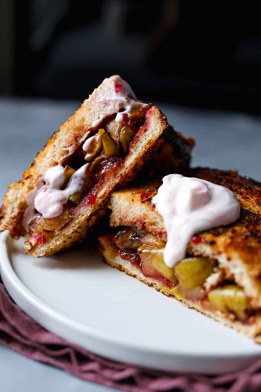 Cinnamon and Apple French Toastie