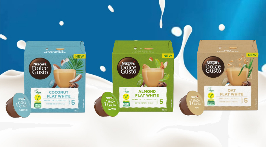 Nescafé Dolce Gusto has launched vegan flat white coffee pods