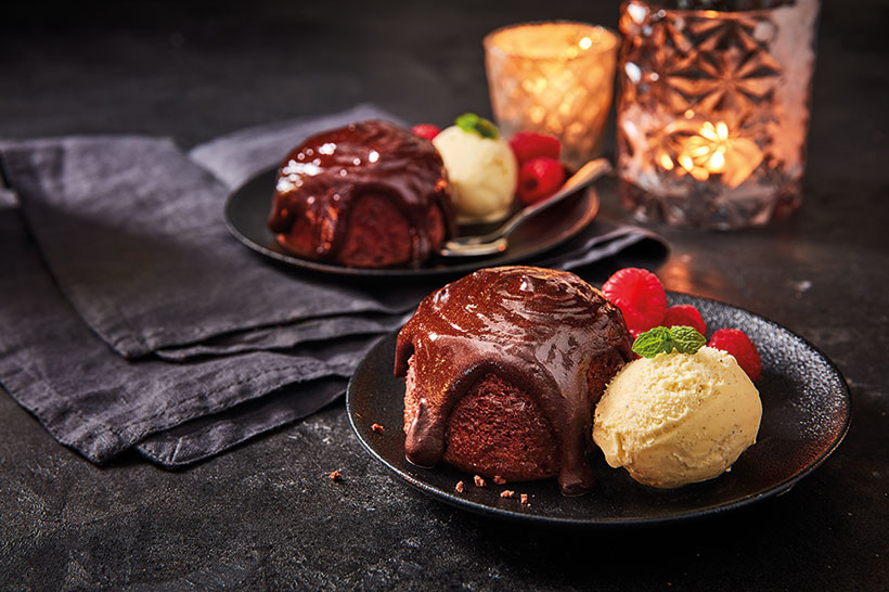 The Chocolate Pudding Twin Pack (£2.50) is the perfect way to end your Valentine's meal.
