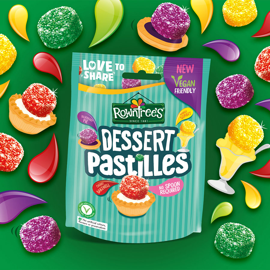 Rowntree's launches vegan Dessert Pastilles with four tasty new flavours