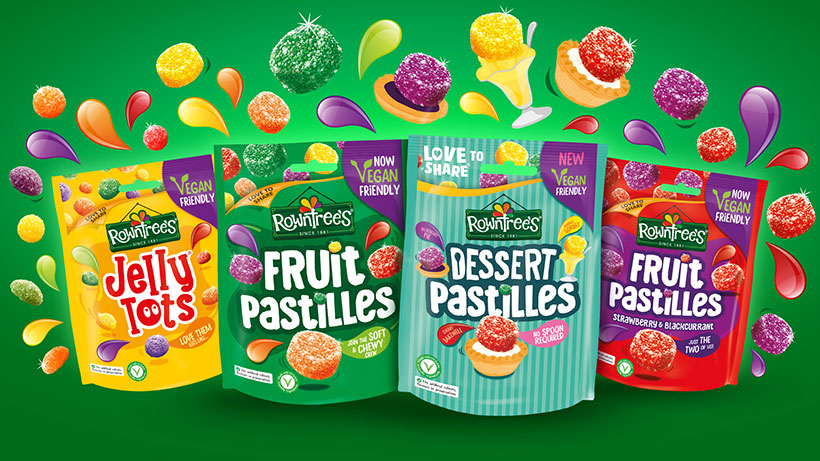 Dessert Pastilles join Rowntree's existing range of vegan sweets which includes Fruit Pastilles and Jelly Tots.