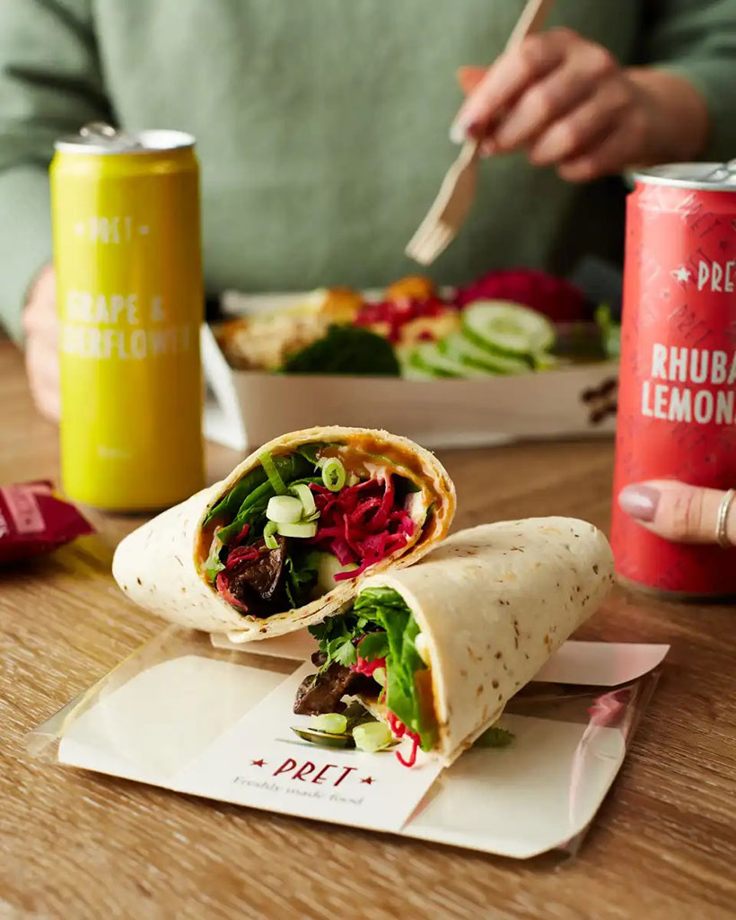 Pret is launching a vegan hoisin mushroom wrap which replaces duck with mushrooms for a healthy and tasty plant-based lunch option.