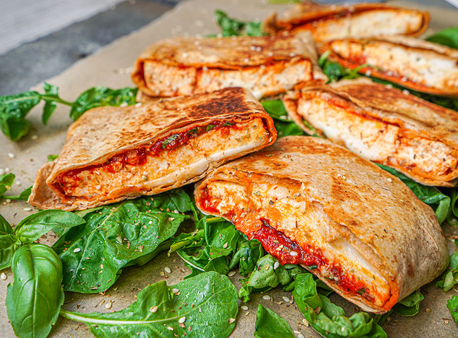 Tofu Pizza Pockets