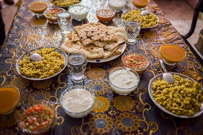 A feast laid out at the Alyasmeen hotel in Nablus. Photo credit: Frits Meyst-Masar Ibrahim.