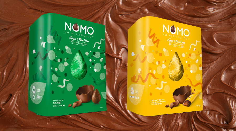 NOMO launches vegan Caramel and Hazelnot Easter eggs