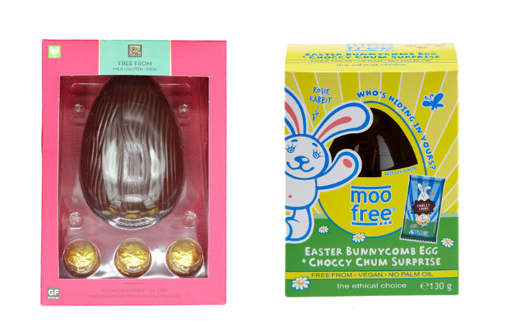 Aldi is offering a range of vegan eggs this Easter from the likes of Moo Free as well as it's exclusive own-brand luxury chocolate range, Mosher Roth