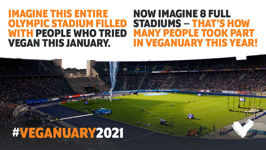 Veganuary is 'unstoppable' as 2021 sees the highest number of sign-ups to date