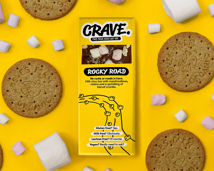 Startup brand CRAVE launches vegan chocolate bars with tasty toppings