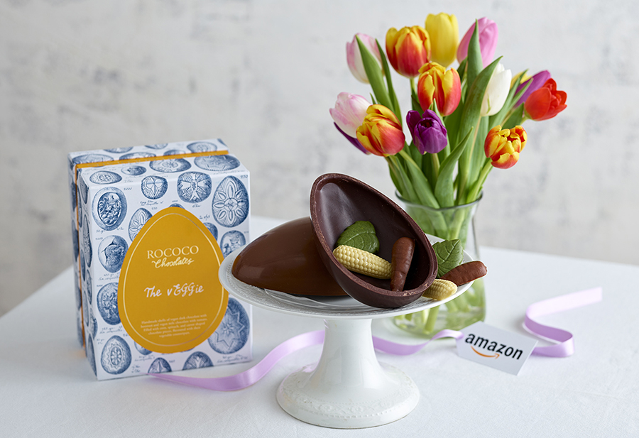 Rococo Chocolate launches vegan Easter egg flavoured with vegetables