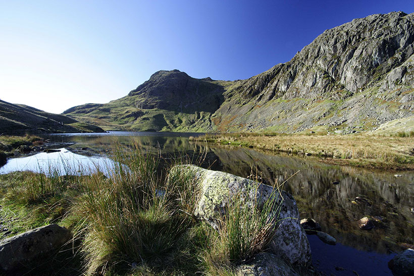 Stickle Tarn in Langdale, not far from Scafell Pike, England's highest mountain