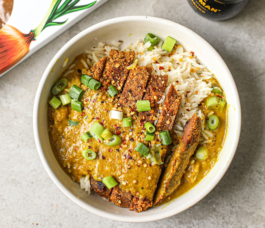 Katsu Curry with Breaded 'Steak' and Sauce