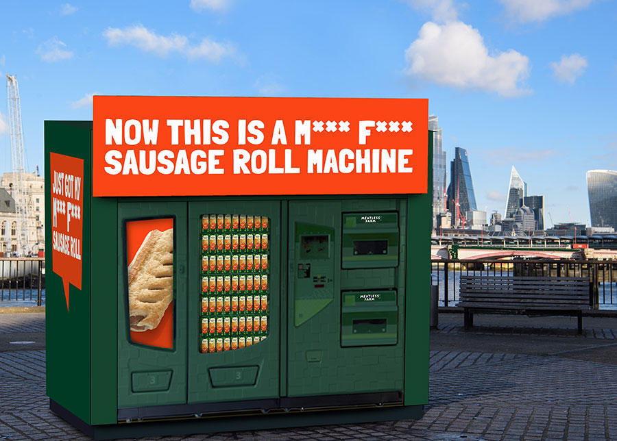 Meatless Farm is bringing a FREE vegan sausage roll vending machine to the UK