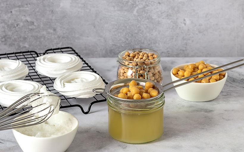 Aquafaba can be whipped up to create a range of sweet and savoury dishes such as meringues.