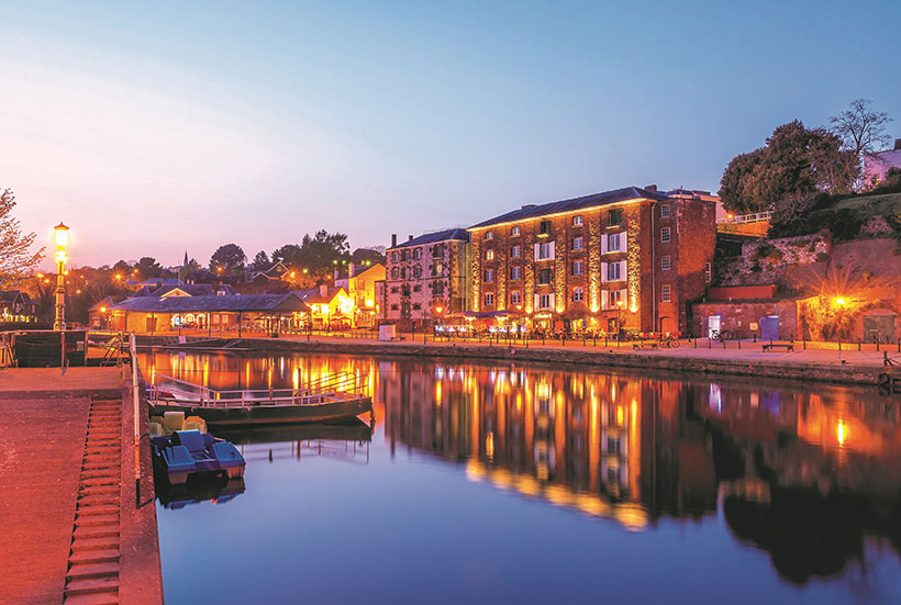 Exeter's quayside has plenty of options for vegans looking for a bite to eat.