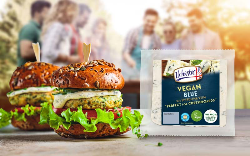 Ilchester's Vegan Blue is perfect in cheeseboards or even melted on top of a vegan burger