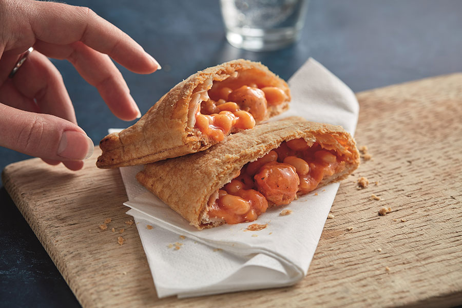 Greggs adds vegan sausage, bean and cheese melt to its iconic plant-based menu