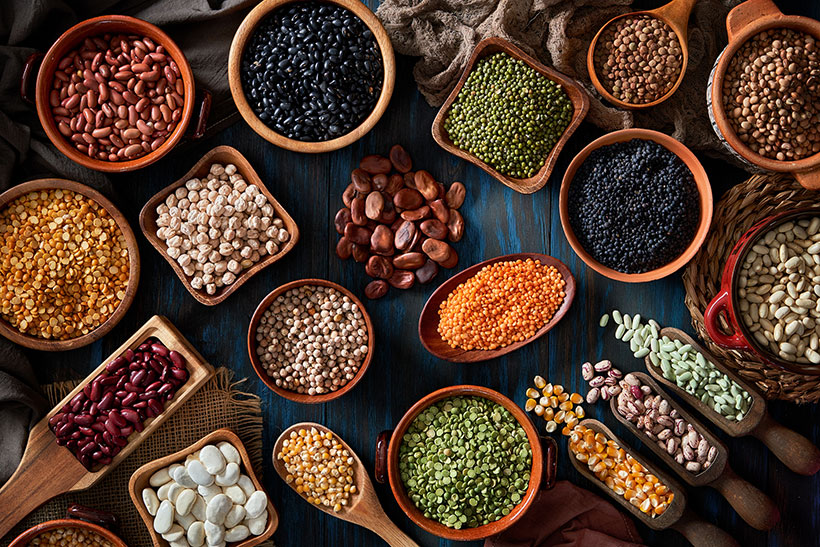Wholegrains, legumes, nuts and seeds contain phytates which bind with minerals like iron and therefore reduce their bioavailability