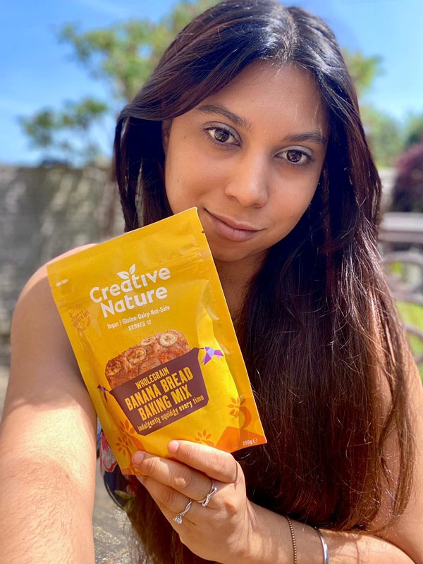 Owner Julianne is very proud of Creative Nature's baking mixes