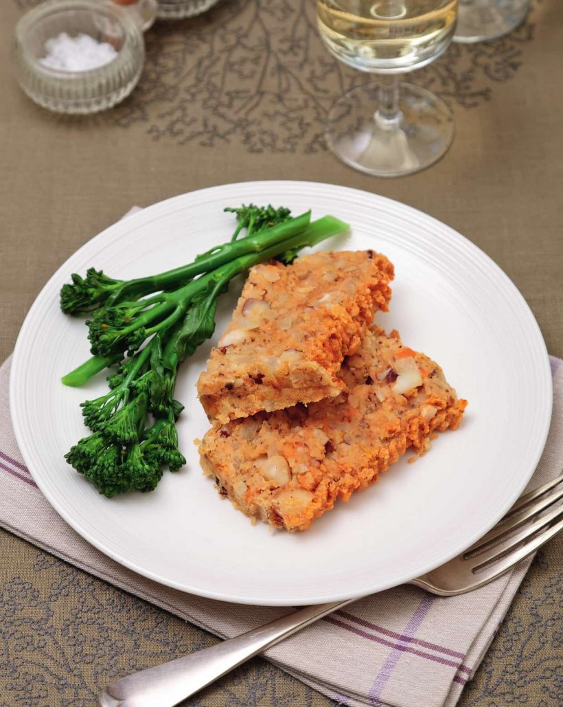 Vegan Nut Roast Packed With Chunky Lentils and Selenium-Rich Brazil Nuts