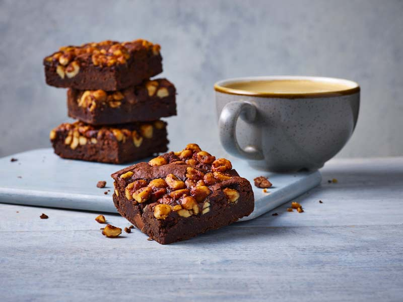 M&S Café has launched an indulgent vegan brownie